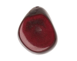 Tagua Nut Merlot Thick Slice 16-18x26-32mm