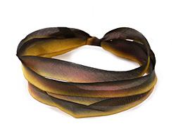 "Fallen Leaves Hand Dyed 100% Silk Ribbon 7/16"""