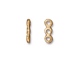 TierraCast Gold (plated) Nugget 3-Hole Bar 5x14mm