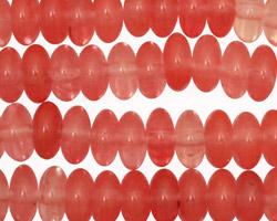 Cherry Quartz Rondelle 10mm
