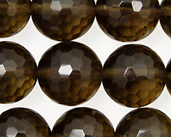 Smoky Quartz Faceted Round 16mm