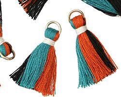 Tango w/ White Binding & Jump Ring Thread Tassel 30mm