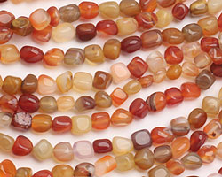 Carnelian (natural) Tumbled Nugget 5-8mm