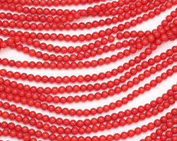 Red Coral Round 3mm