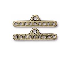 TierraCast Antique Brass (plated) 9-Hole End Bar 8x28mm
