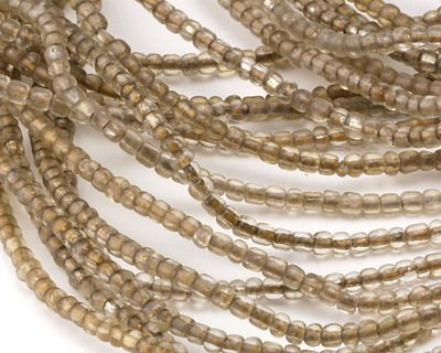 African Trade Beads Smoky Glass 3-5x3-5mm
