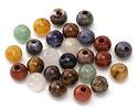 Multi Gemstone (Sodalite, Tiger Eye, Red Jasper, Aventurine) Round (Large Hole) 8mm