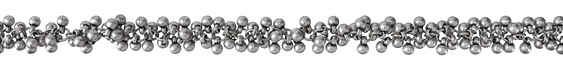 Antique Silver (Plated) Beaded Drop Chain