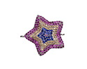 Mirage Mix Pave CZ Rhodium (plated) Star Focal Link 23x22mm