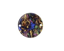 Zola Elements Abalone Acetate Coin Link 20mm