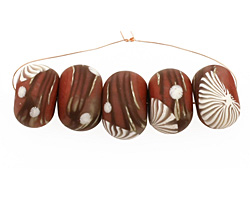 Humble Beads Polymer Clay Copper Branch Disk 8-9x12-13mm