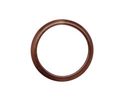 Tagua Nut Dark Brown Ring 22mm