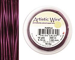 Artistic Wire Purple 18 gauge, 10 yards