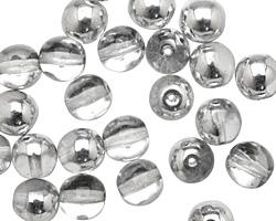Czech Glass Silver 1/2 Round 8mm