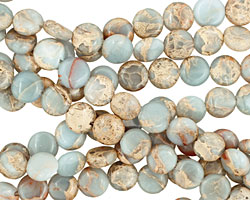 Impression Jasper Puff Coin 10mm