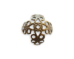 Vintaj Natural Brass Filigree Bead Cap - Wrap 16mm
