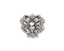 TierraCast Antique Silver (plated) Butterfly Link 16x17mm