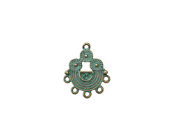 Zola Elements Patina Green Brass Floral Rainbow Chandelier 18x22mm