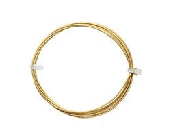German Style Wire Non Tarnish Brass Weave Pattern Round 18 gauge, 1.5 meters