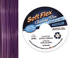 "Soft Flex Purple Amethyst .019"" (Medium) 49 Strand Wire 10ft."