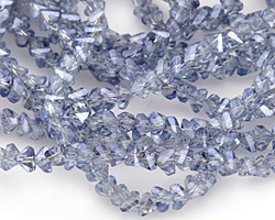 Glacier Luster Crystal Faceted Chevron 2x4mm