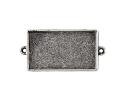 Nunn Design Antique Silver (plated) Grande Rectangle Bezel Link 50x25mm