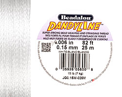 DandyLine White .15mm Thread, 25 meters