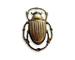 Vintaj Natural Brass Scarab Pendant 20x32mm