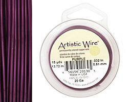 Artistic Wire Purple 20 gauge, 15 yards