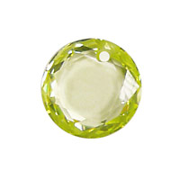 Lemon Ice Faceted Coin 16mm