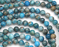 Larimar Blue Crazy Lace Round 8mm