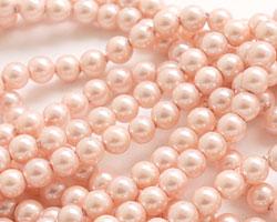 Blush Shell Pearl Round 4mm
