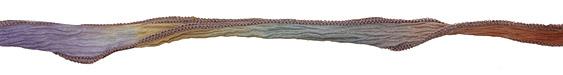 "Kaleidoscope w/ Gray Edges Hand Dyed 100% Silk Ribbon 1/2"""