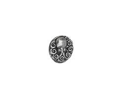 Green Girl Pewter Octopus Button 15mm