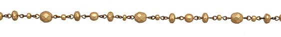 Czech Glass Matte Gold on Brass Bead Chain