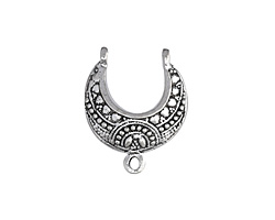 Zola Elements Antique Silver (plated) Crescent 2-1 Focal 20x24mm