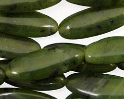 Canadian Jade Flat Oval 28x10mm