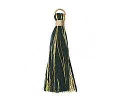 Forest w/ Metallic Gold Thread Tassel 50mm