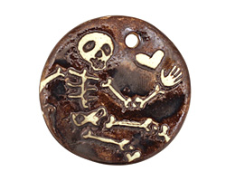 Earthenwood Studio Ceramic Skelly Pendant 35mm