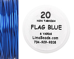 Parawire Flag Blue 20 Gauge, 6 Yards