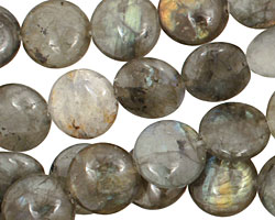 Labradorite Puff Coin 14mm