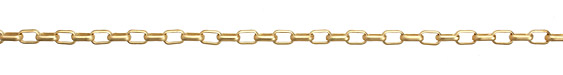 Satin Hamilton Gold (plated) Box Cable Chain