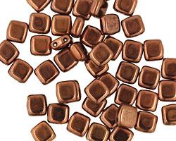 CzechMates Glass Dark Bronze 2-Hole Tile 6mm