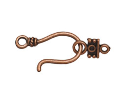 Antique Copper (plated) Hook & Eye Clasp 36x15mm