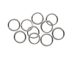 Silver (plated) Soldered Jump Ring 8mm, 18 gauge