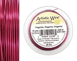 Artistic Wire Magenta 20 gauge, 15 yards