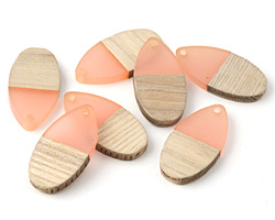 Wood & Blossom Resin Teardrop Focal 16x31mm