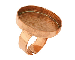 Copper Adjustable Ring Circle Bezel 27mm