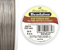 "Beadalon Bright .024"" 19 Strand Wire 30ft."