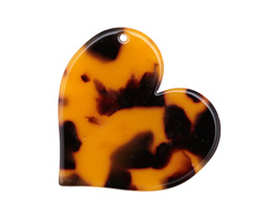 Zola Elements Tortoise Shell Acetate Heart Focal 35mm